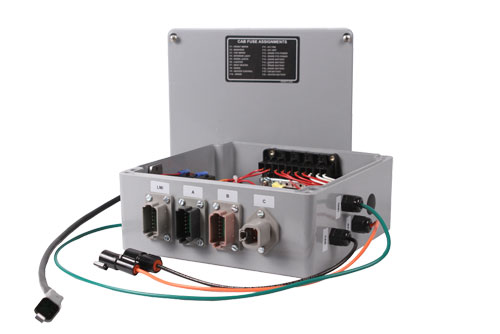 Waterproof Rugged Control Panel with Waterproof Connectors