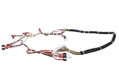 Custom Wire Harness with Tubing and LED's