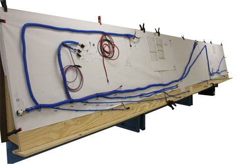 truck trailer wire harnesses industrial crane chassis harness on wire board