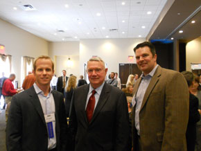 Ed Latson of TMAC, Mayor Leffingwell, Tom Lonsdale of Cypress Industries