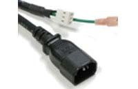 Hooded Male 3 Prong Power Cable